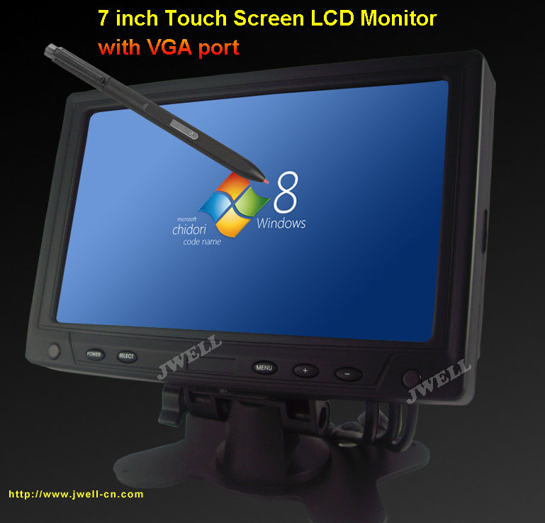 High Resolution 7 TFT LCD Touch Screen Monitor With Home Car Adaptor Support