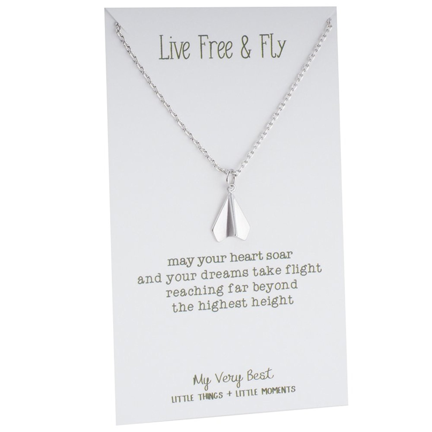 My Very Best Paper Plane Necklace