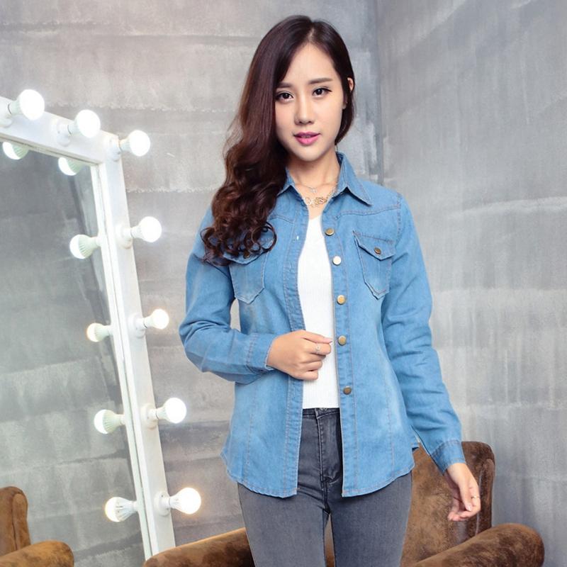Compra vaquera camisas para mujeres online al por mayor de