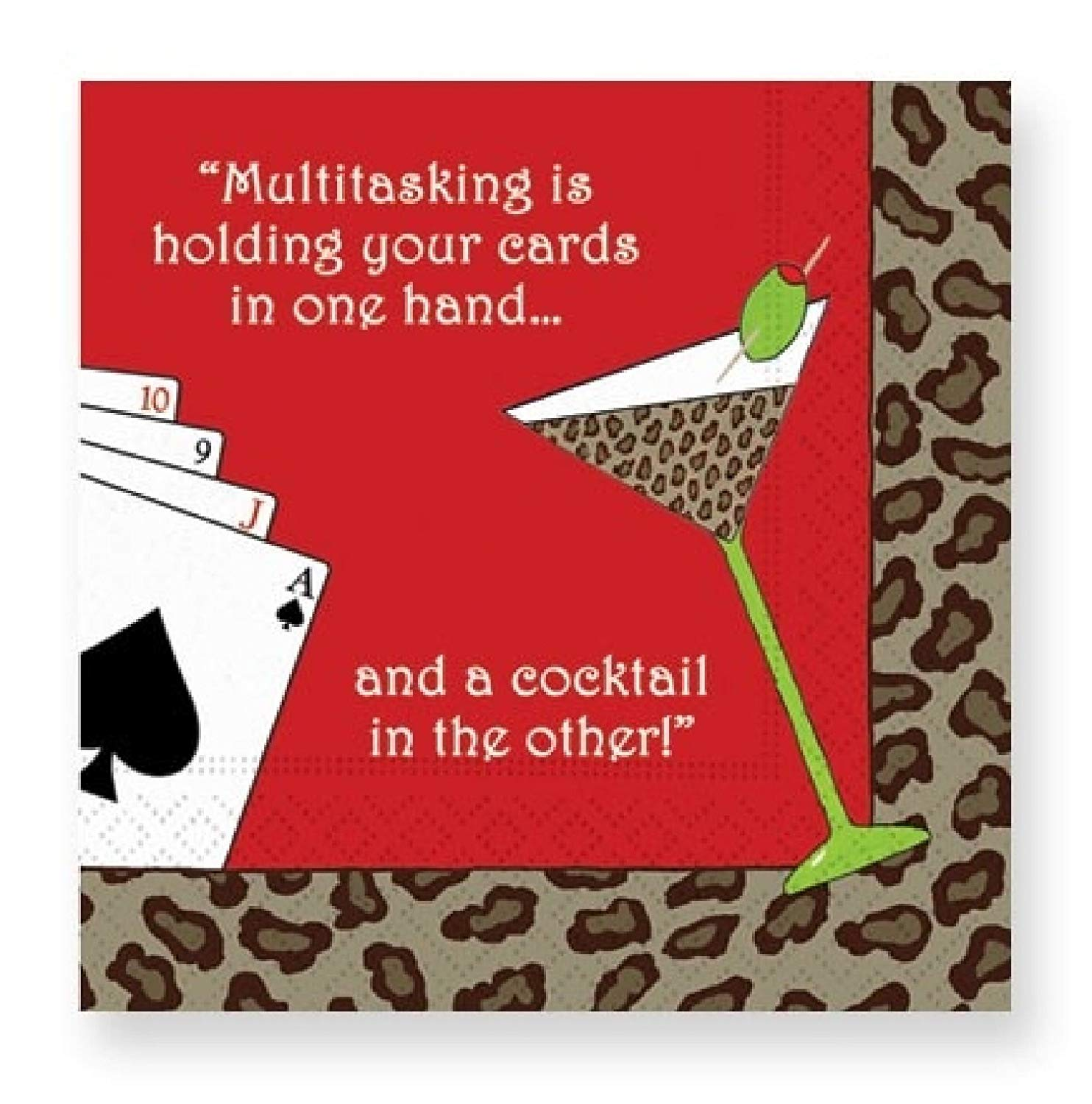 Design Design Multitasking is holding your cards in one hand... Cocktail Napkins
