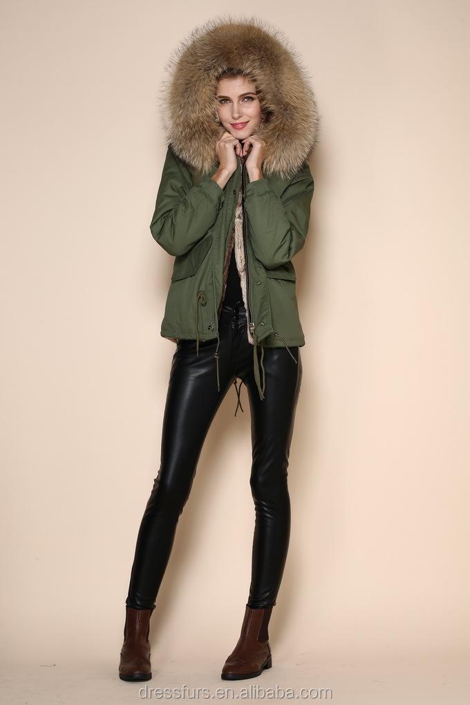 China Wholesale Supplier Navy Parka With Lamb Fur /women Fur ...