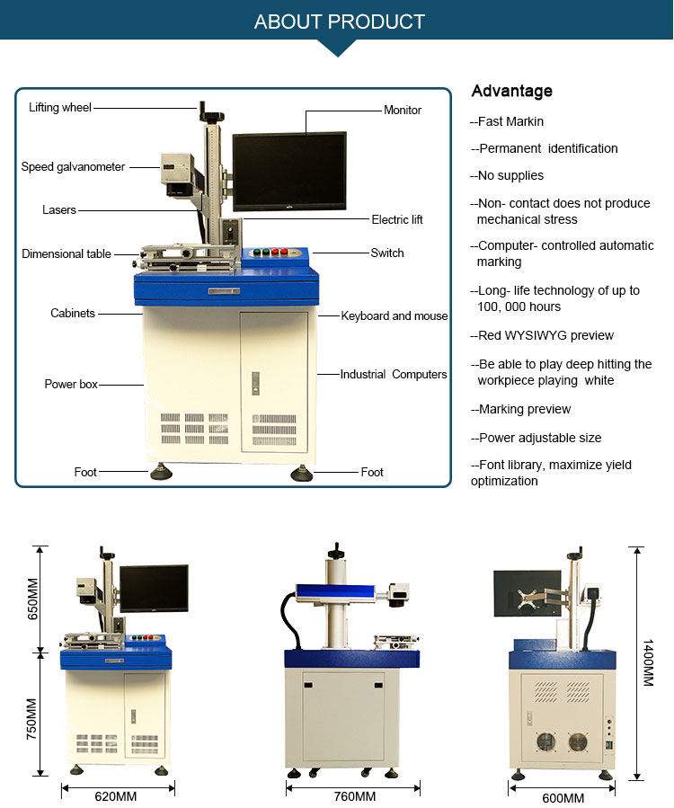 Plastic laser writing machine for stainless steel for Jewelry/watch/led/automobile/ic/iphone/pc Keyboards