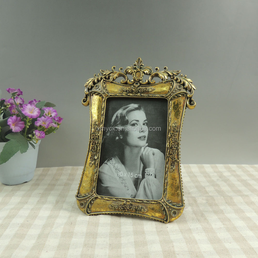 Gold painting resin frame vintage photo frame for sale