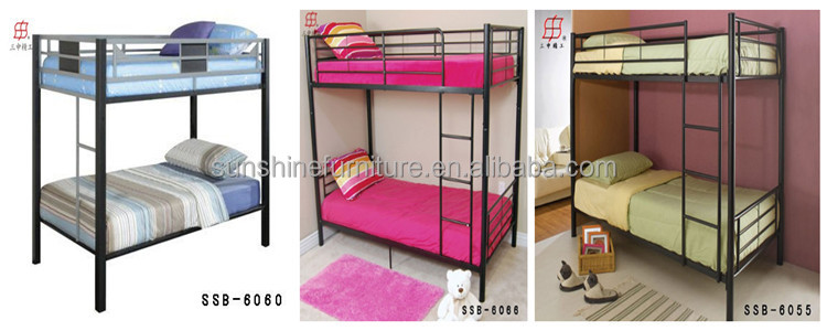 Trade Assurance Cheap Single Size Dorm Metal Bunk Beds For Sale