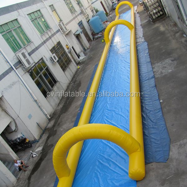 1 lane inflatale slip and slide /giant inflatable city slide