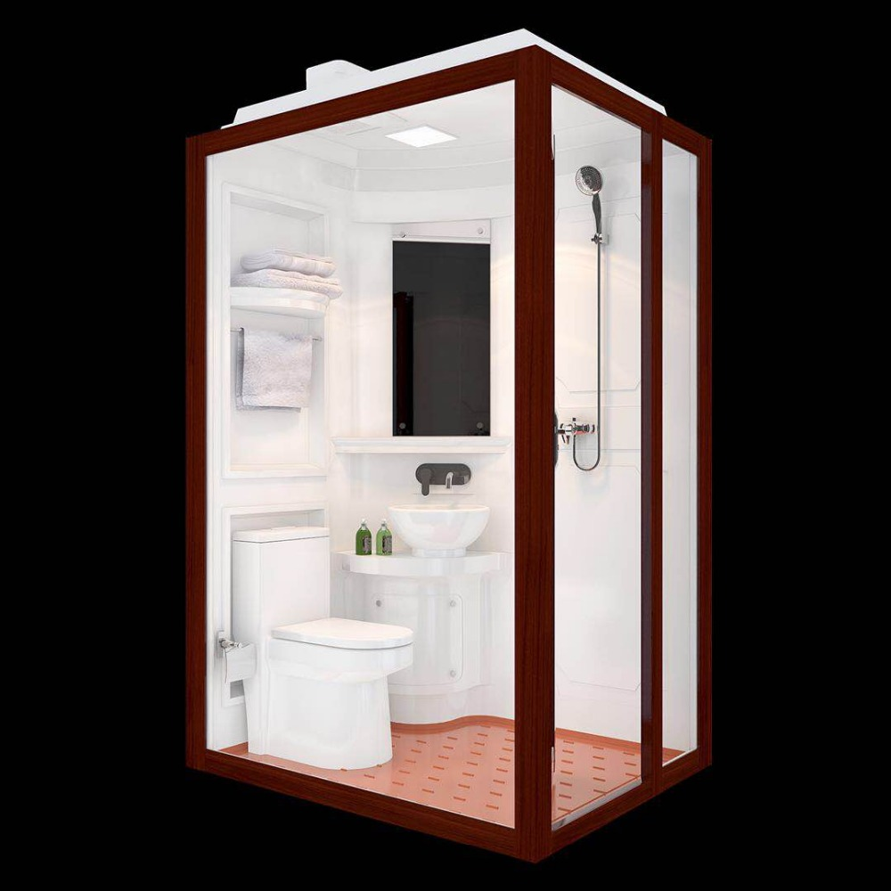 Hot sale bathroom pod made in China tempered glass shower room bathroom shower units