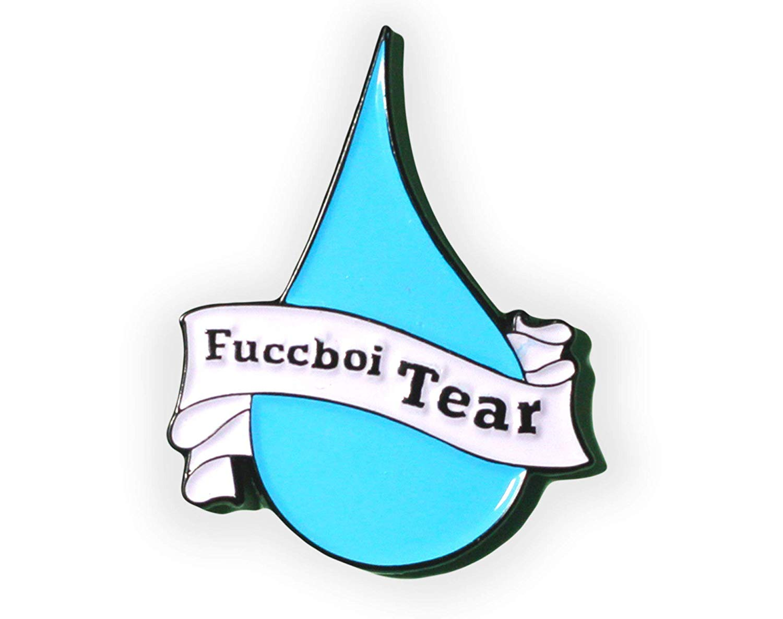 Fuccboi Tear Enamel Pin, Male Tears Pin, Tumblr Pin, Feminist Pin, Pin badge, Lapel Pin, flair, pin game, hat pin, cute pin, gift for her