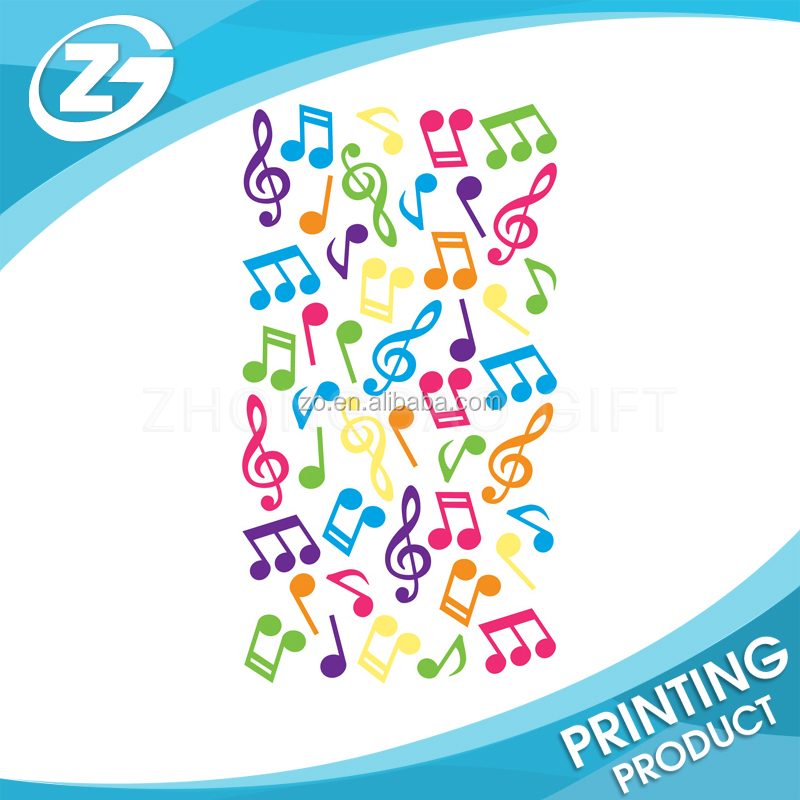 clear sticker Music Notes domed Stickers