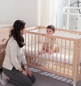 CE Certification Kids Furniture Wooden Adult Baby Crib