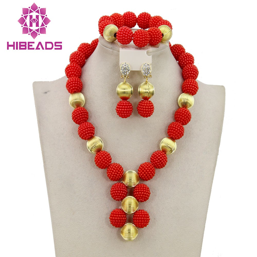 New Design Costume African Beads Jewelry Set Wedding Party Jewelry ABC005