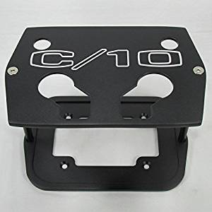 """Billet Aluminum Optima Battery Tray Holder Box - Chevy """"C-10"""" Classic Chevrolet Truck Textured Black Powder Coat - Group 34/78 Series Red, Yellow, Blue Top - Custom Antique Pick Up Battery Tray"""