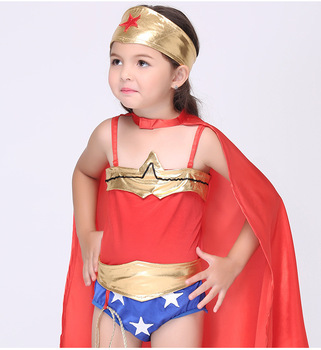 Factory Hot Sale Girls Party Dresses Wonder Woman Costume Cosplay