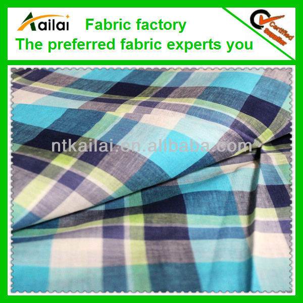 100% india yarn dyed cotton voile