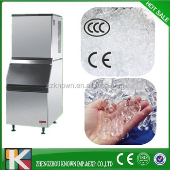 stainless steel 500kg/day automatic industrial cube ice machine/dry ice maker