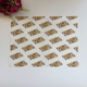 Logo printed grease proof food wrapping paper