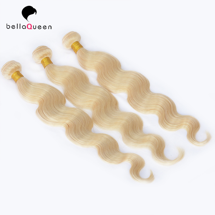 New arrival high quality #613 blonde color brazilian virgin hair bundles Hair Extension Virgin Straight Hair