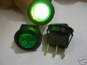 HOT SALE!!! BARGAIN PRICE!!! 1pc Green Lighted Illuminated Car 12v Rocker Switch,G8C S in Business
