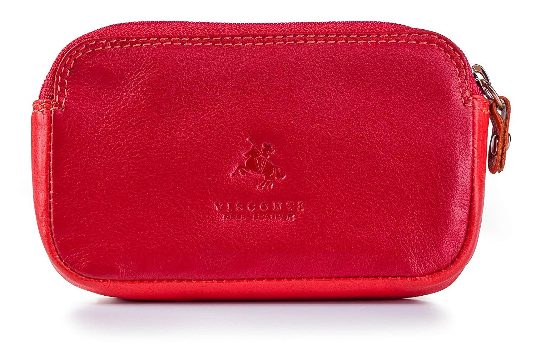 1e738921d7 Get Quotations · Visconti RB68 Multi-Color Ladies Soft Leather Coin Purse /  Key Case Wallet