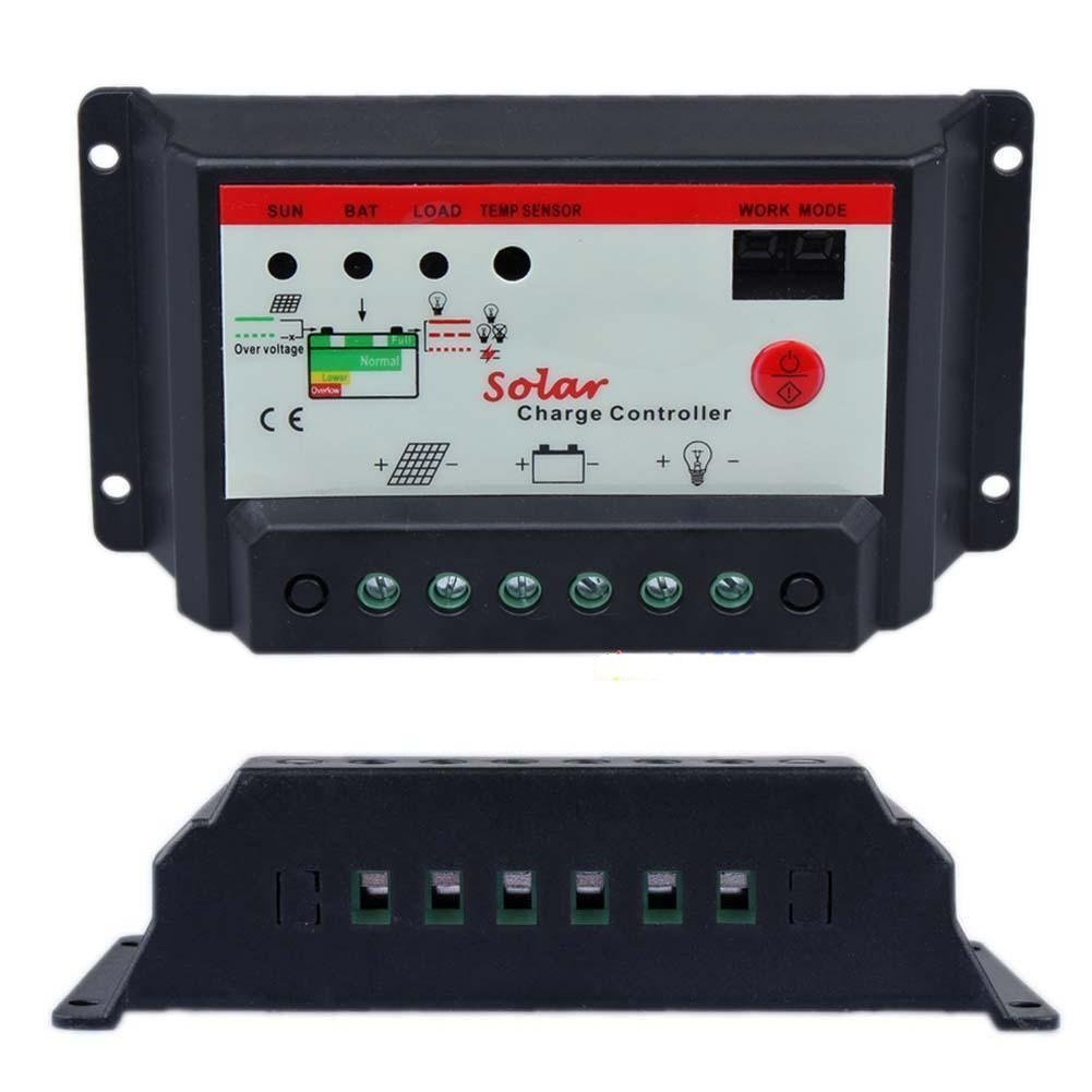 Chargers & Inverters Intelligent 30A PWM Solar Panel Charge Controller 12V 24V Battery Regulator MT