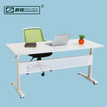 White Moveable Manual Height Adjustable Standing Desk