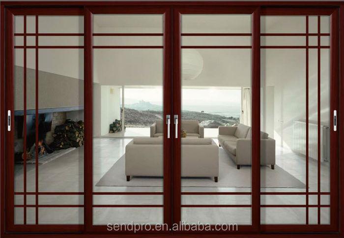 Window Grill Patterns New Design Wooden Door Commercial Use Office Doors Aluminum Sliding