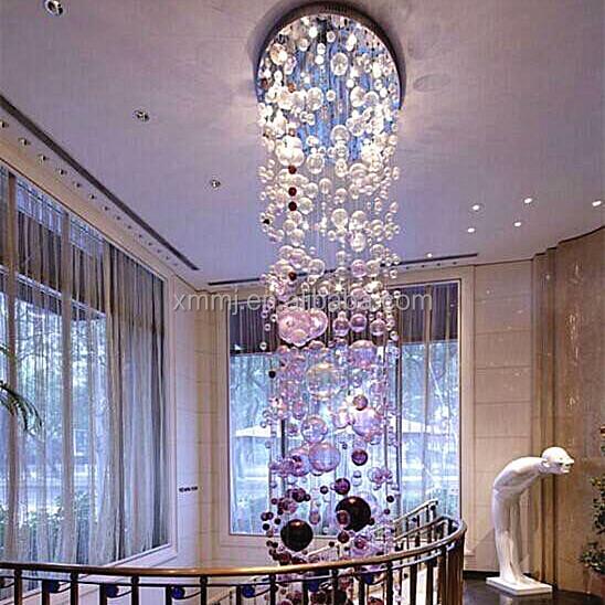 Honesty Black Glass Chandelier Lighting Custom Made Murano Glass Pendant Lamps Hotel Decor Glass Hanging Led Chandeliers Lights & Lighting Chandeliers