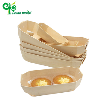 wholesale cheap poplar wood round cheese cake box