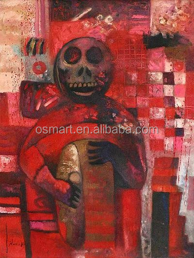 Death beats a drum to make its presence known100%handmade classic decoration oil painting in canvas