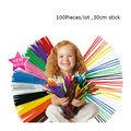 100pcs Pack 30cm Montessori Chenille Stems Pipe Christmas Plush doll Diy Children Toys diy kit