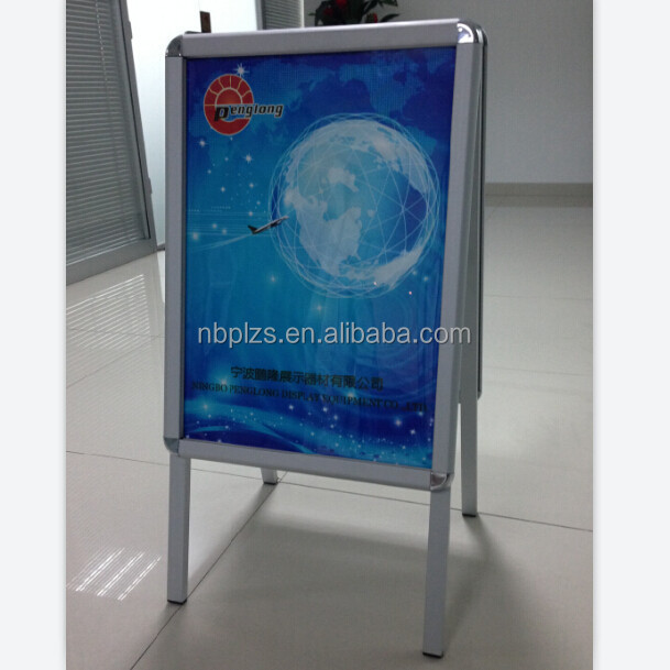 Aluminum A board sign,wholesale a-frame sign board advertising stand silver frame