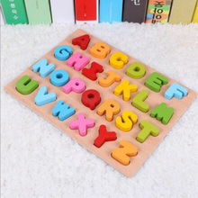 Holz nummer und <span class=keywords><strong>alphabet</strong></span> puzzle kinder spielzeug