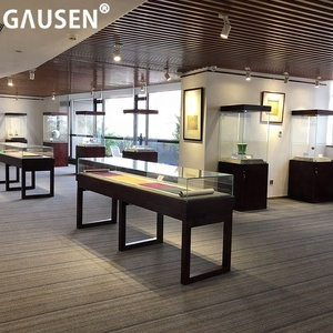 Customized Luxury museum display showcase cabinet stands used museum display cases