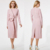 Lace Up Long Pink Dress For Women