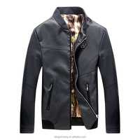 85006 Jackets Product Type and OEM Service Supply Type slim fit men pu leather jacket