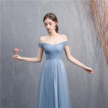 Женское платье подружки невесты, длинное платье с вырезом-лодочкой, вечерние облегающие платья для выпускного вечера(Китай)
