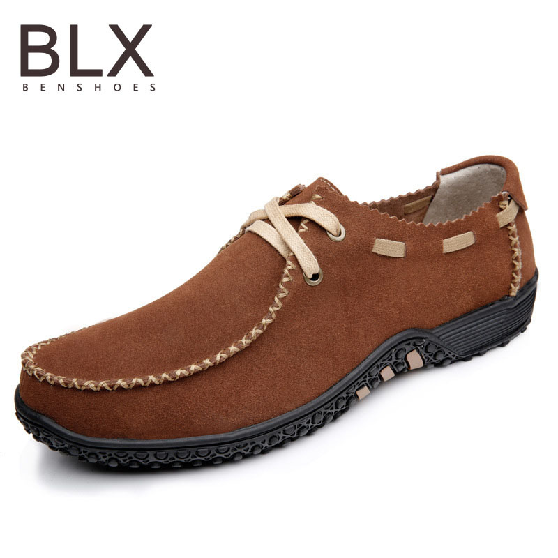 Mens Loafers New 2015 Brand Mens Casual Leather Shoes Fashion Slip on men shoes genuine leather mens loafers suede flat shoes