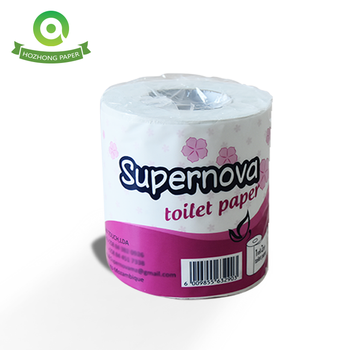 China soft embossed mixed wood pulp paper toilet tissue