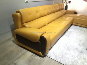 Modern alibaba new product american corner leather sofa S099