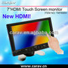 7 Inch HDMI VGA Monitor With 2 Video And Audio Input
