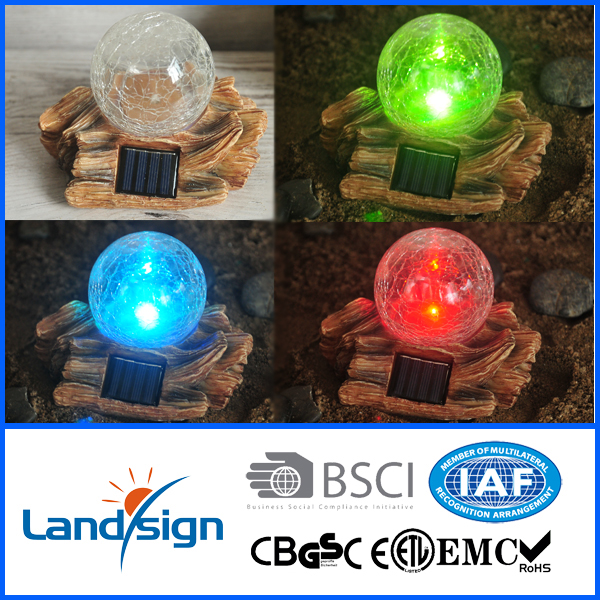 Solar power led light solar outdoor lamp XLTD-1557 garden solar light ball for decoration