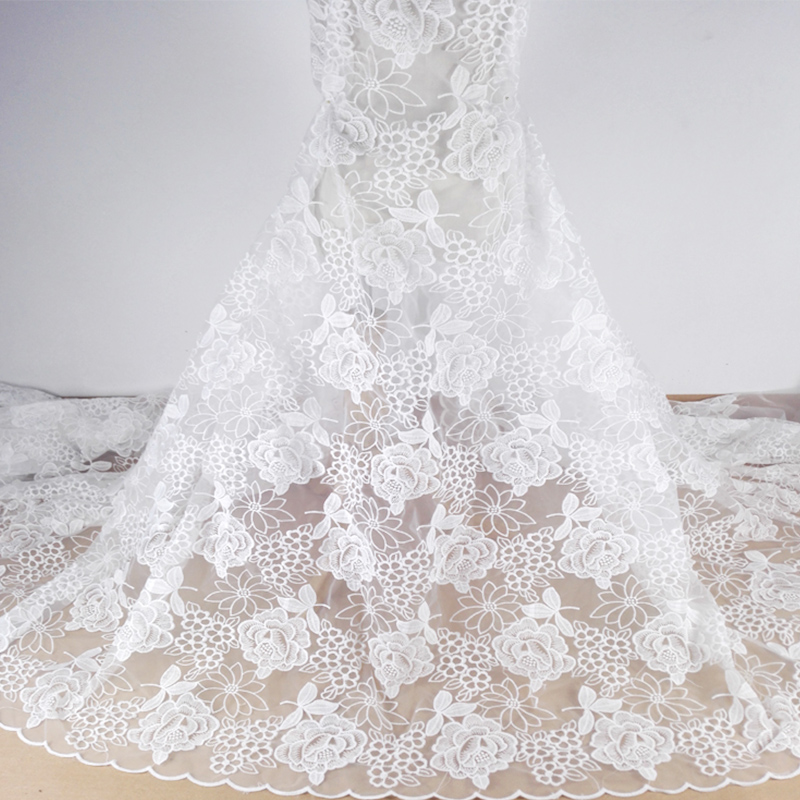 embroidery <strong>lace</strong> fabric <strong>Dubai</strong> white <strong>lace</strong> for bridal wedding dress