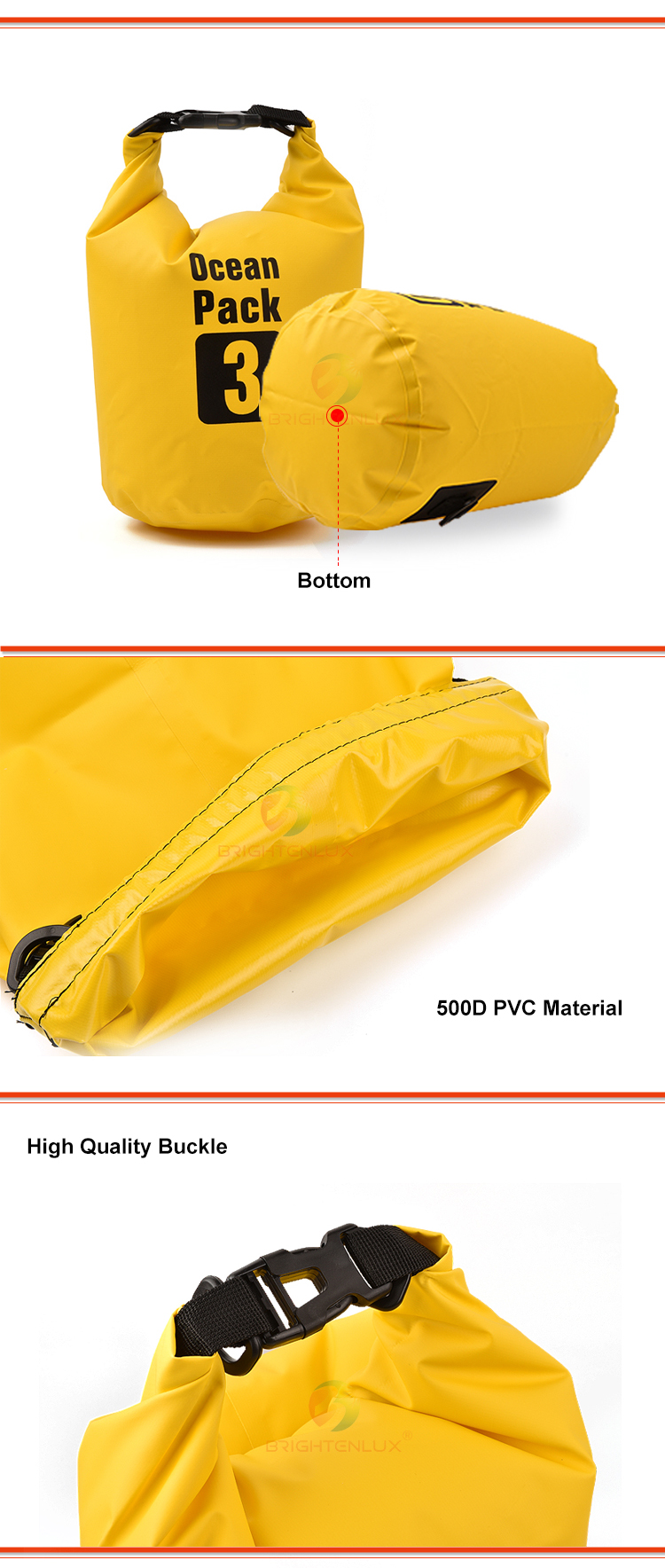 2L 3L 5L 8L 10L 15L 20L 30L 40 Boating Floating Hiking Kayak Wet Custom Logo Outdoor Polyester PVC Ocean Pack Waterproof Dry Bag