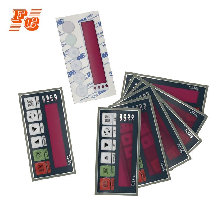 Printing Membrane Keypad Front Panel Graphic Overlay Silk Screen Label  Sticker - Buy Membrane Keypad Front Panel,Sticker Printing Graphic