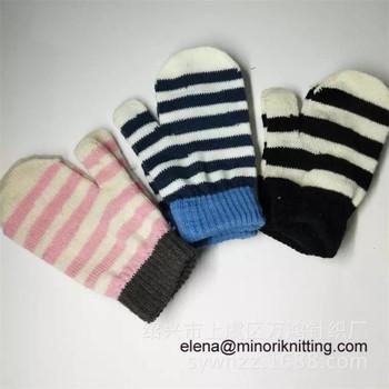 Children Warm Magic Gloves Toddler Winter Mittens Baby Girls Knit