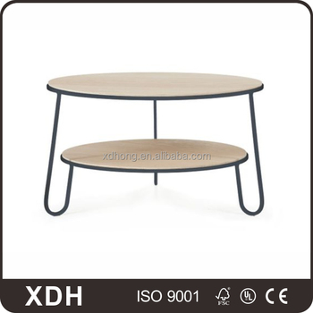 Customized Round Wooden Stable Two Story Table With Three Metal Legs Buy Stable Table Three Table Legs Round Wooden Table Product On Alibaba Com