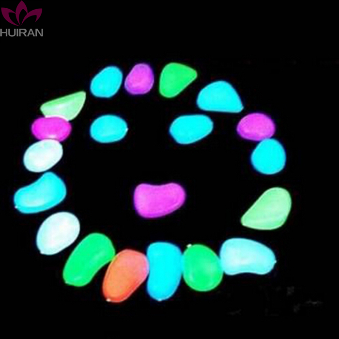 Glow Fish Tank Aquarium Decoration Stone Acrylic Walkway Garden Supplies Luminous Pebbles Artificial Stone