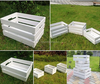 Custom White Wooden Crates For Fruit and Vegetable Promotion storage crate with gap