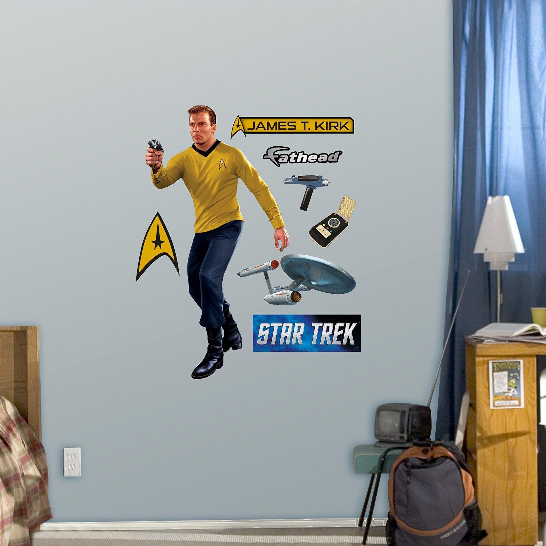 Buy Fathead Captain James T Kirk Fathead Jr Graphic Wall Deacute