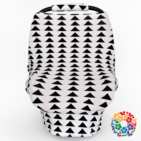 Multifunctional Nursing Cover Canopy Designer Car Seat Cover Material Black and White Comfortable wholesale Car Seat Cover