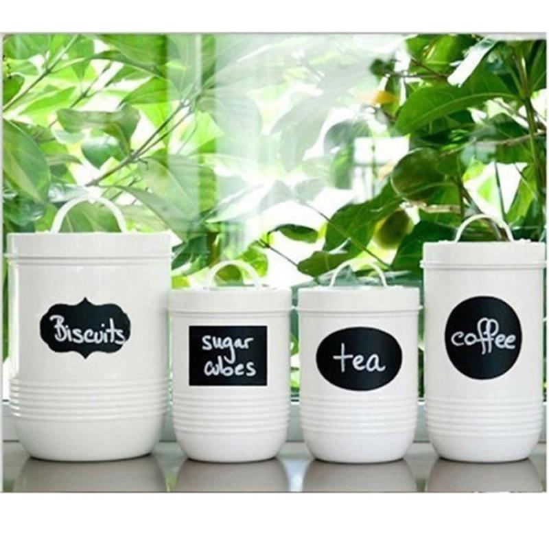 Acheter / Set Craie Stylo Cuisine Moderne Organisant Tableau Ardoise  Ardoise Étiquettes Craie Vinyle Cuisine Jar Autocollants Artisanat 12x3 De  $23.27 ...